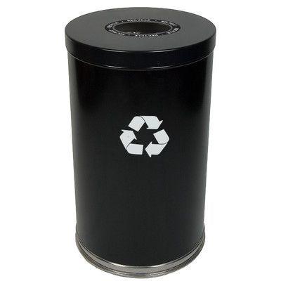 Witt Metal Recycling Single Stream Industrial Recycling Bin Color: Black, Gallon Capacity: 35