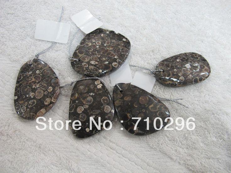 Смешанный размер 10 шт./лот Природный Nautiloid Ископаемые Подвески Приблизительно 30-55 мм Природный everlast Ювелирные Подвески