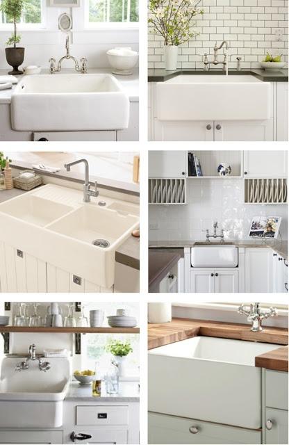 www.naturalmoderninteriors.blogspot.com | Belfast kitchen sink ideas