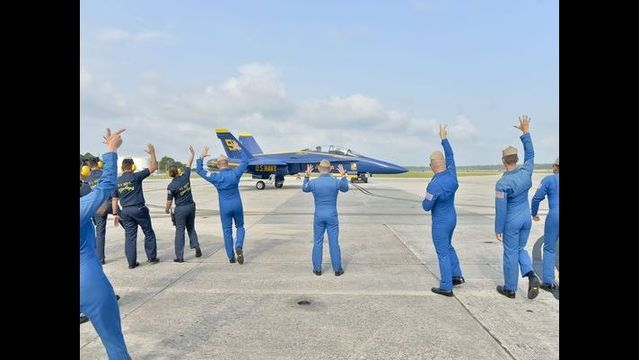 Pensacola residents were treated to a pleasant surprise Thursday morning when the Blue Angels took to the sky over the beach and downtown for the first time in two weeks since a deadly crash at a Tennessee air show practice claimed the life of their No. 6 pilot.
