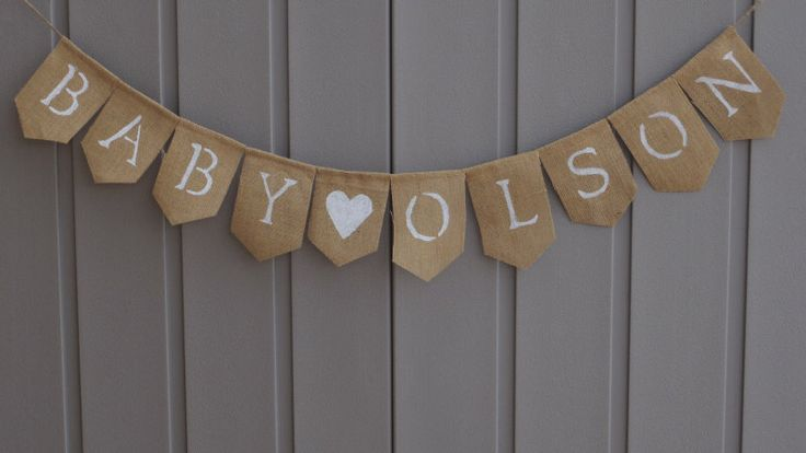 Welcome Baby Banner, Welcome Baby Sign, Custom Baby Banner, Baby Shower Decor, Baby Bunting, Baby Burlap, Gender Reveal, Photo Prop by LittleBitLefty on Etsy https://www.etsy.com/listing/243020638/welcome-baby-banner-welcome-baby-sign