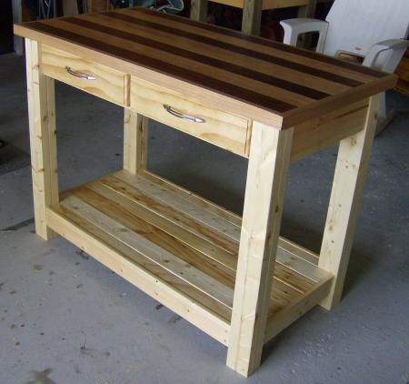 plans to build a rolling kitchen island woodworking