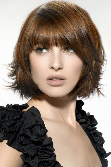Chic Tapered layered Bob Hairstyle