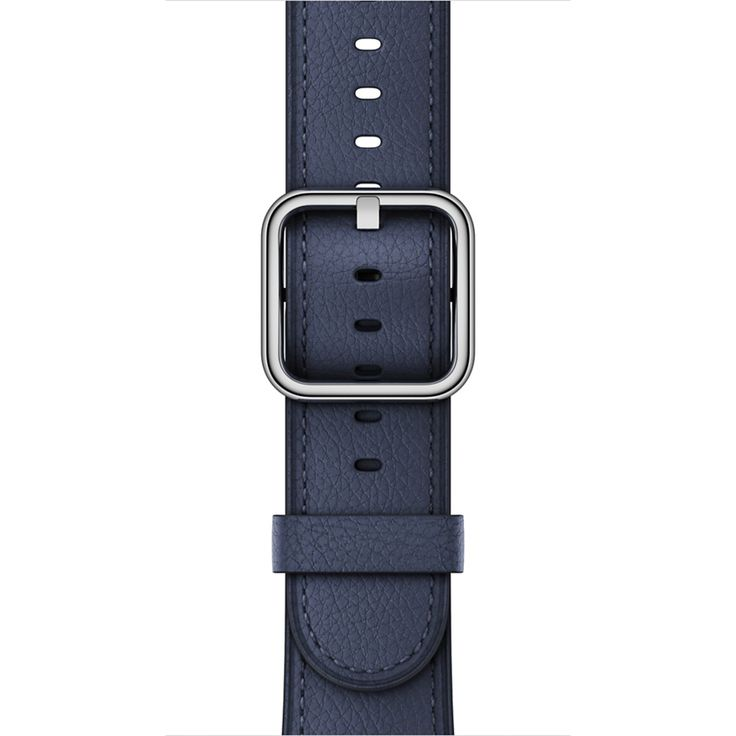Customise the look and feel of your Apple Watch with a 38‑mm Midnight Blue Classic Buckle band. Buy online now at apple.com