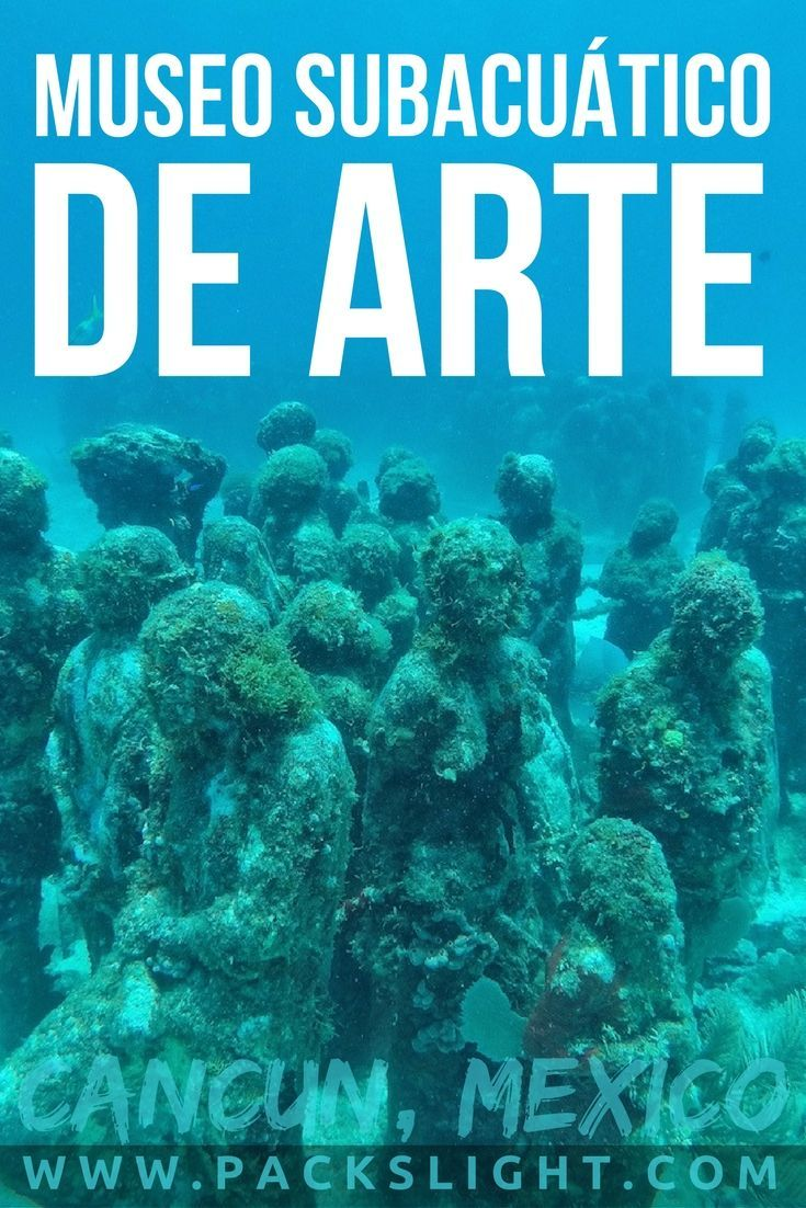 Check out the Museo Subacuático de Arte (MUSA), in Cancun, MX! No scuba diving license necessary, cross this off of your adventure bucket list! #scubadivingtrippackinglist