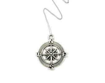 Compass Necklace, Travel Gifts, Wanderlust Necklace, Gap Year Gifts, Gifts for Travellers, Son Gifts, Travel Accessories, Graduation Gifts
