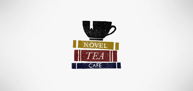 Cute fictional tea cafe an artist conceptualized - its entire theme is derived from great classic literature.