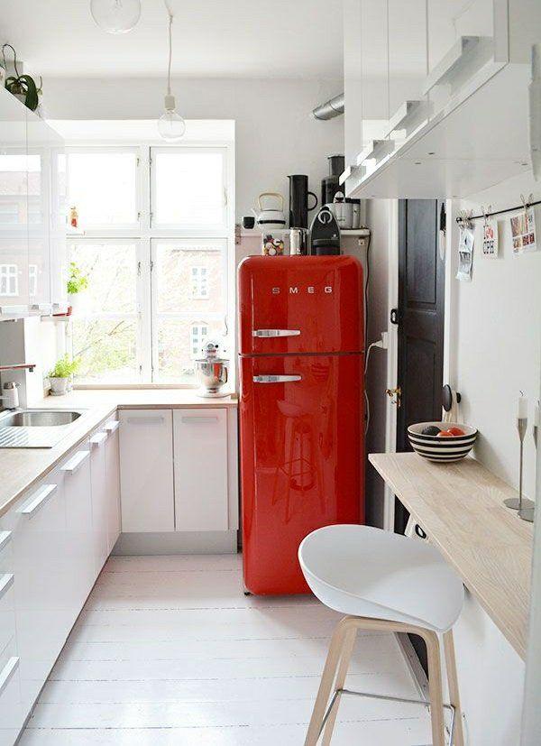 Die besten 25+ Smeg kühlschrank Ideen auf Pinterest schwarze - küche mit side by side kühlschrank