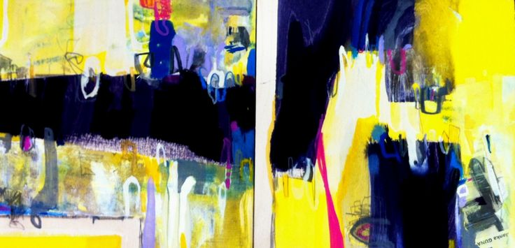 """Spring"" (Diptych) by Bianka Guna 2012 Series Acrylic On Wood Panel SOLD"