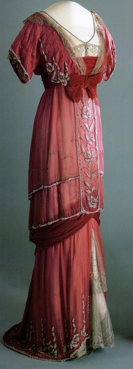 Queen Maud of Norway's Red Evening Gown - 1910-13 - Style and Splendour - Victoria and Albert Museum -