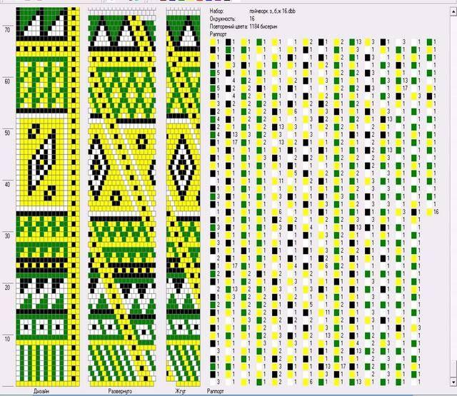 Bead crochet pattern, 16 around