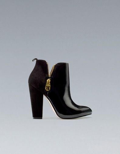 ANKLE BOOT WITH DOUBLE ZIP - Shoes - ZARA United States