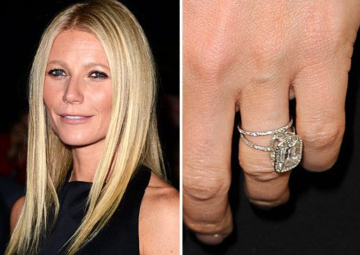 gwyneth paltrows minimalist style is reflected in her engagement ring from rocker chris martin the asscher cut diamond rests within a micro pave halo and - Giuliana Rancic Wedding Ring