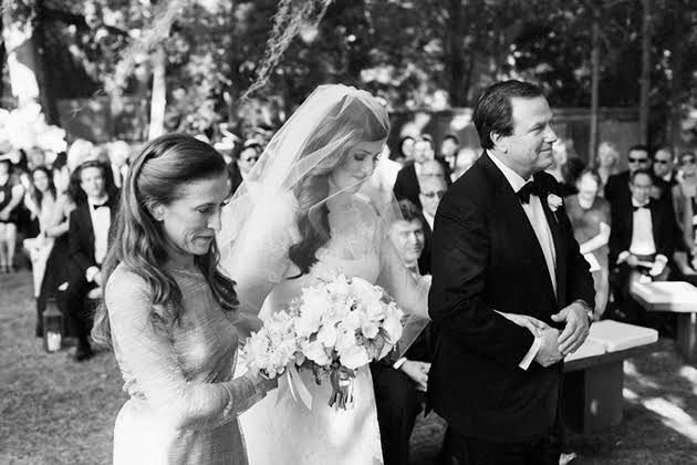 Bride and Parents at a Jewish Wedding Ceremony
