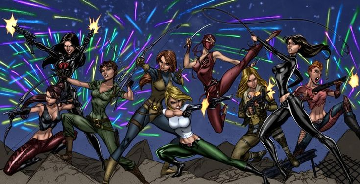 Ladies of GI Joe and Danger Girl   (9/9/12) by REN1972