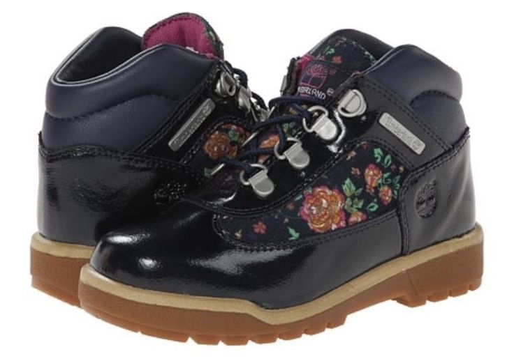 Timberland Field Boot Girls' Toddler Grade School Navy/Floral  #Timberland #Boots