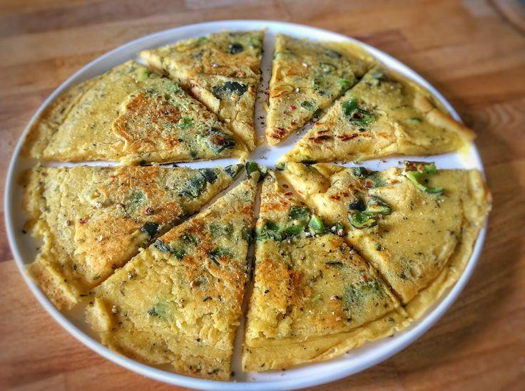 Recette de la socca, plat naturellement vegan et sans gluten du sud de la France. Différentes variantes de la socca sont disponibles.