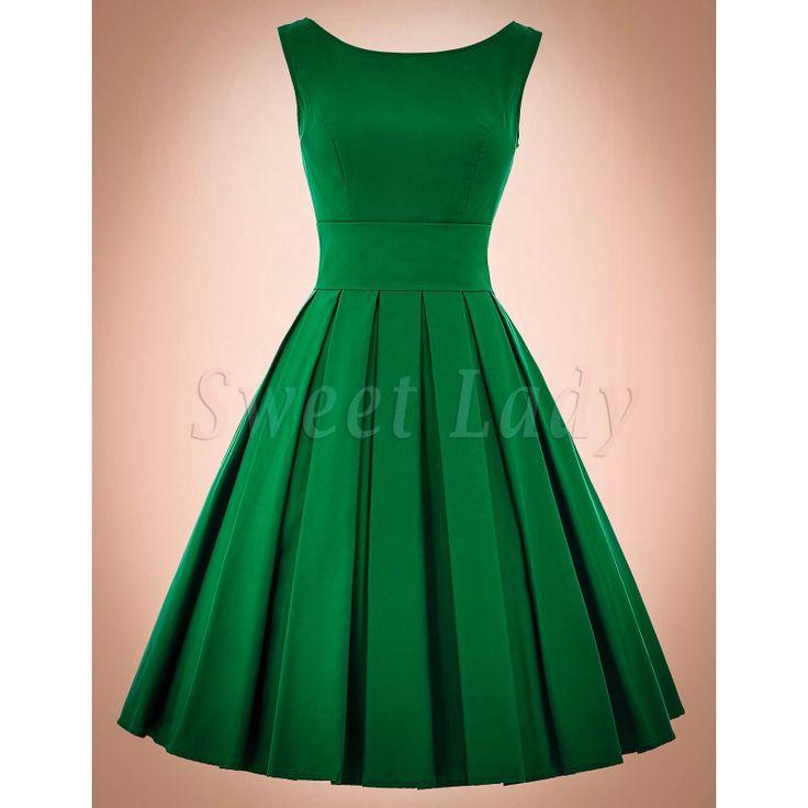 zelené retro šaty s ačkovou sukňou