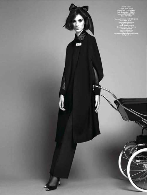 Motherhood Fashion Editorials #Fashion #Lullaby #Mothers http://www.trendhunter.com/
