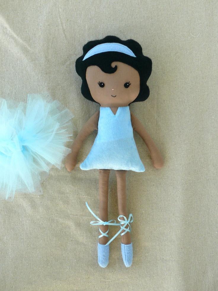 Cloth Doll Fabric Doll Blue Ballerina