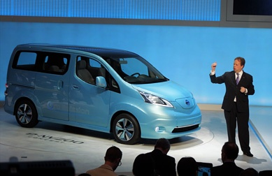 EVP Andy Palmer explained that Nissan second EV, the e-NV200 is going to be launched in passenger and LCV versions, bring Zero Emission transport to event more people.