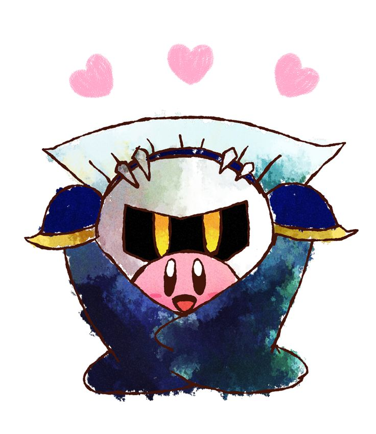 Kirby♥Meta Knight. Love these two like a father and a son