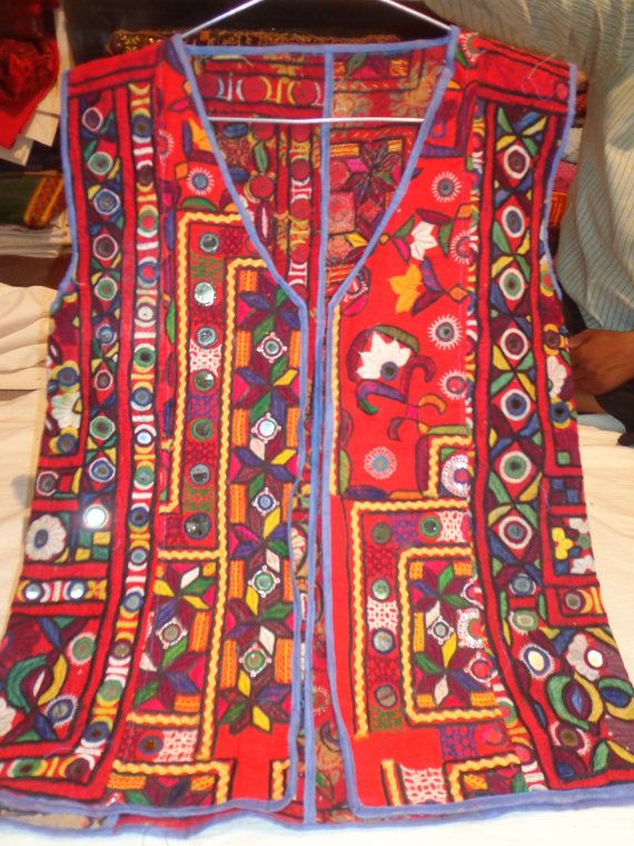 VINTAGE mirror work jackets piece from india by jaisalmerhandloom, $189.00