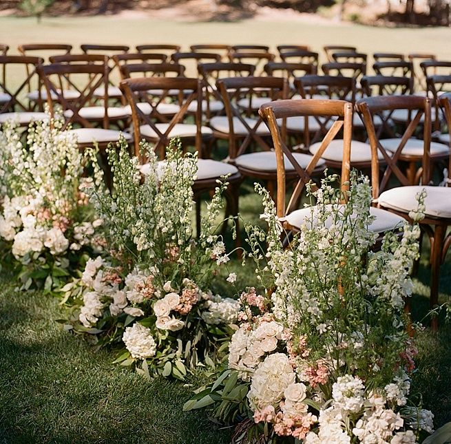 Wedding Ceremony Sites: Flower Ideas For Ceremony Aisles. Meadowood Napa Valley