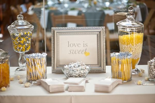 Grey Amp Yellow Candy Buffet Gray Yellow Baby Shower
