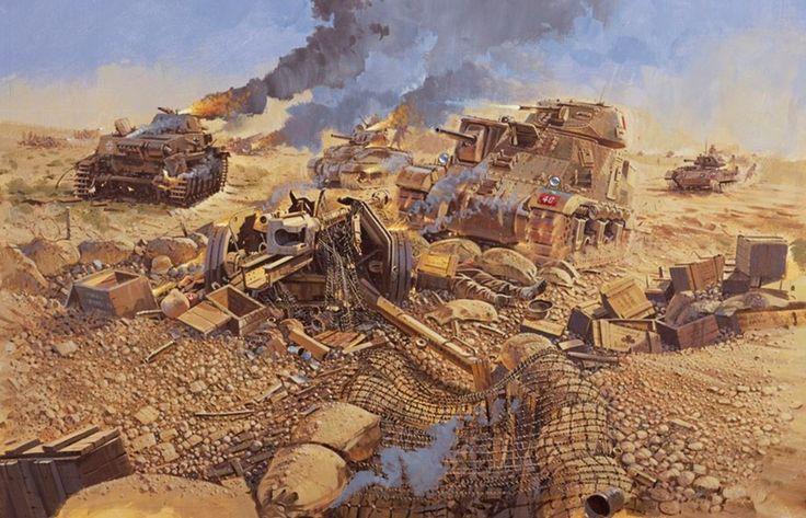 1942 11 01 El Alamein. 3rd King's Own Hussars charge - Howard Gerrard