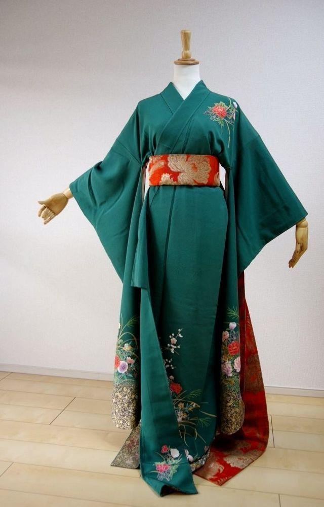 Kimono Dress Japan Furisode Hanayome Japanese costume Vintage dress KDJM-F0033