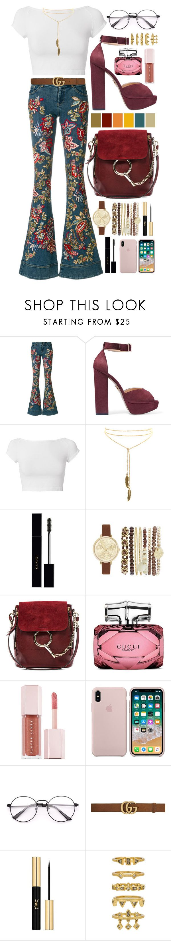 """""""lipps inc. - funkytown"""" by amylewin ❤ liked on Polyvore featuring Alice + Olivia, Charlotte Olympia, Helmut Lang, Gucci, Jessica Carlyle, Chloé, Puma, Yves Saint Laurent, Luv Aj and boho"""