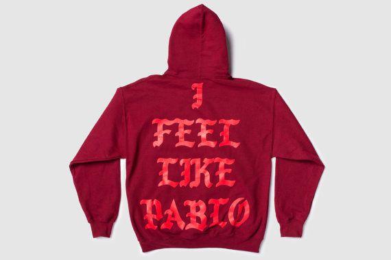 The Life of Pablo Tour Garnet Red I Feel Like Pablo HOODIE Kanye West Yeezy TLOP Merch Yeezus Ultra Light Perfect Design! Hooded Sweatshirt