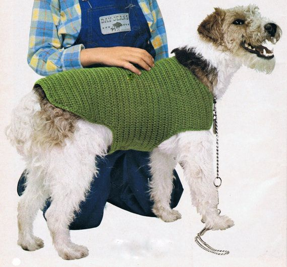Dog Coat Crochet Pattern PDF Vintage