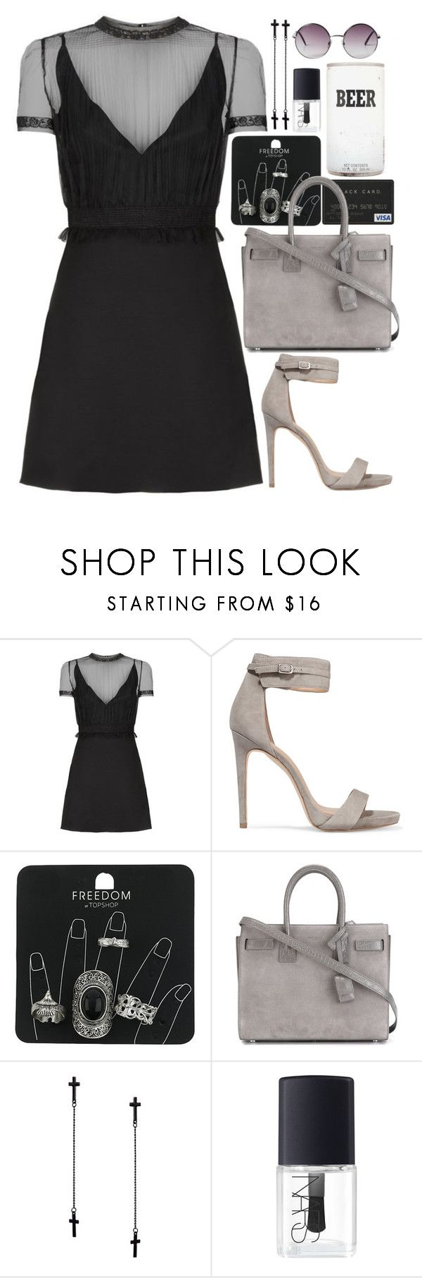 """Little Black Dress"" by littlebigtown-718 ❤ liked on Polyvore featuring Valentino, Halston Heritage, Topshop, Yves Saint Laurent, Ashiana, NARS Cosmetics, Monki, LittleBlackDress, LBD and Fall2016"