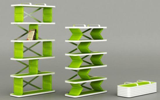 Zigzag shelf
