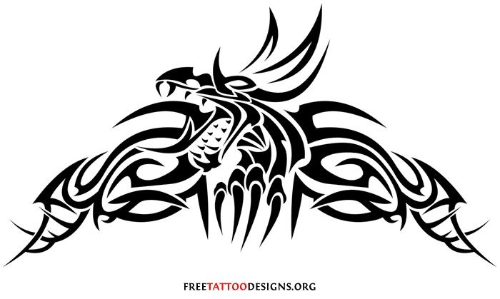 Tribal dragon tattoo design Dragons, Black amp; White | tattoos picture tribal dragon tattoo