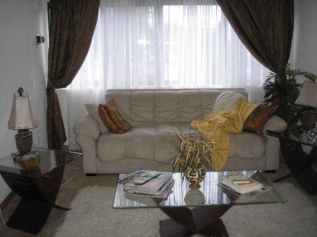 Living room at Whitney Towers in Hamden, CT