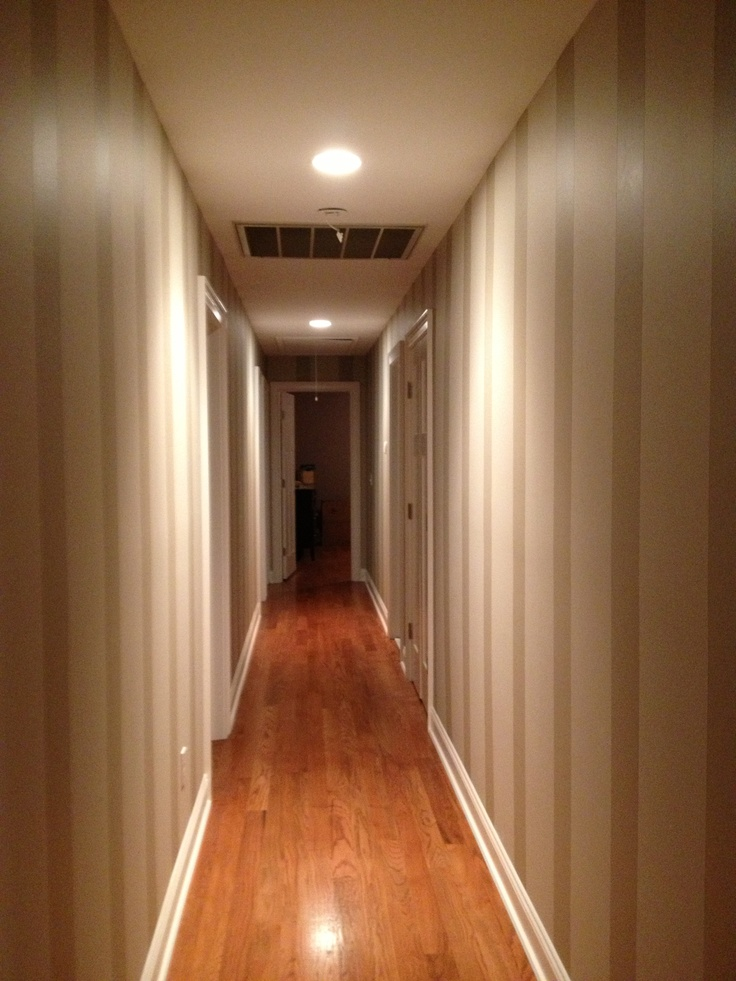 Striped Paint To Shorten A Long Hallway Color Themes