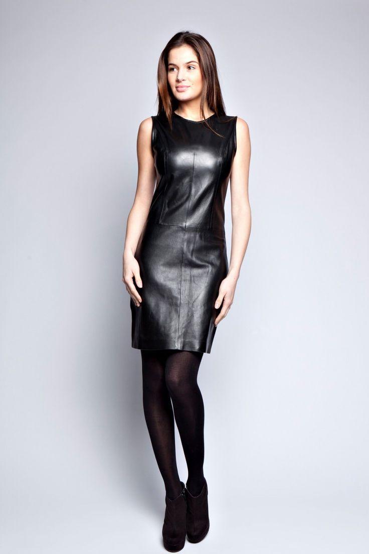 Robe cuir agneau Sarah noir