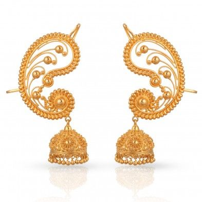 Divine Gold Earring -malabar jewellers