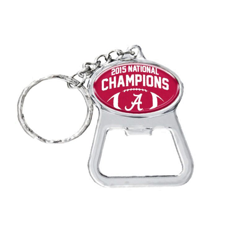 Alabama Crimson Tide College Football Playoff 2015 National Champions Bottle Opener Keychain - $4.79