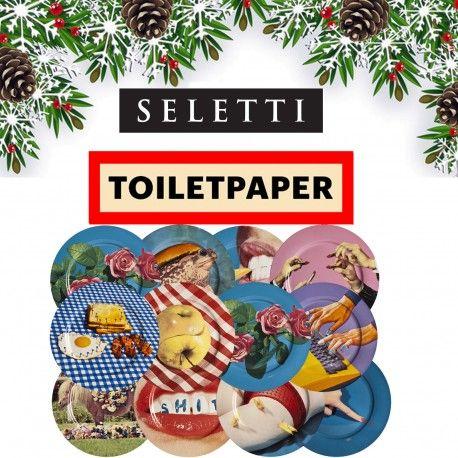 Arreda la tua tavola di Natale con la linea Toiletpaper di Seletti un'idea regalo originale e creativa composta da: 12 piatti porcellana della linea toiletpaper.