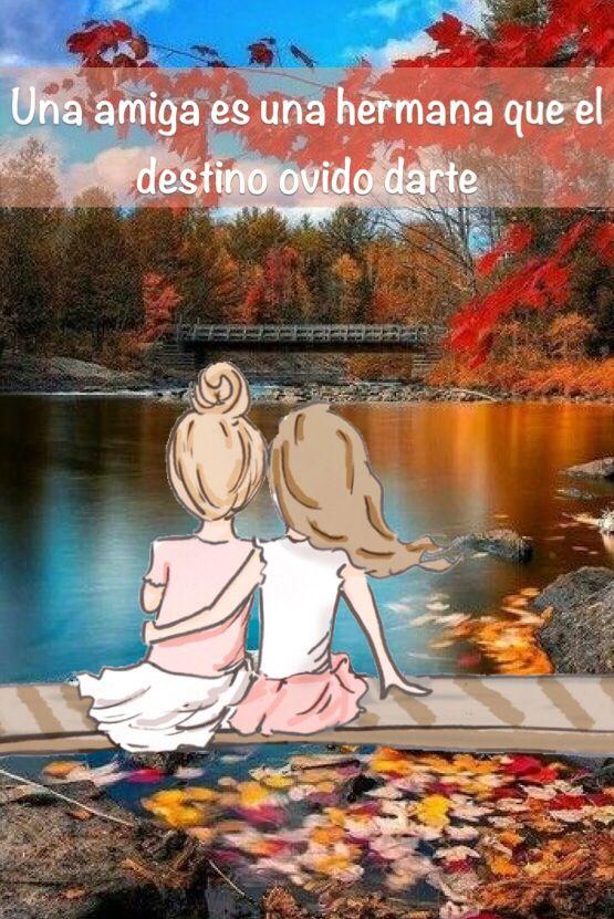 Una amiga es la hermana que el destino olvidó darte
