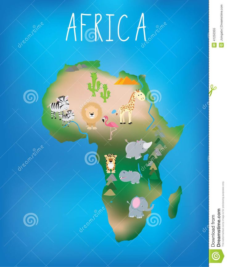 africa map animals - Bing Images
