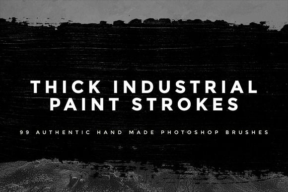 Thick Industrial Paint Strokes Set 1 by DesignerCandies on Creative Market