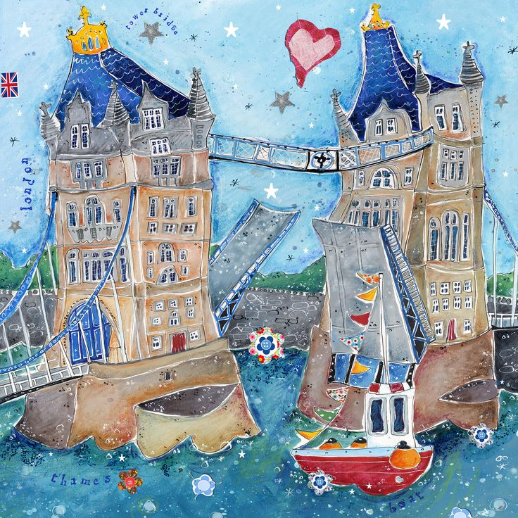 Tower Bridge (SO37F) London Art Print by Susie Grindey http://www.thewhistlefish.com/product/so37f-tower-bridge-framed-by-susie-grindey #London #TowerBridge