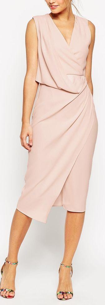 wrap draped dress More