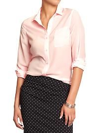Women's crepe-chiffon blouse ( price previously stated)