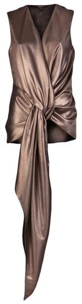 THIMISTER   Wrap Tie Top. Me encanta para usar con un pantalón negro